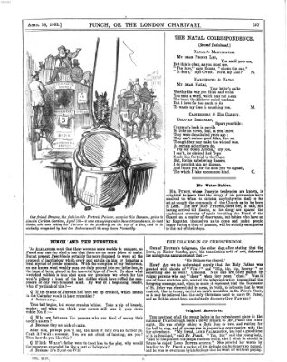 Punch Samstag 18. April 1863