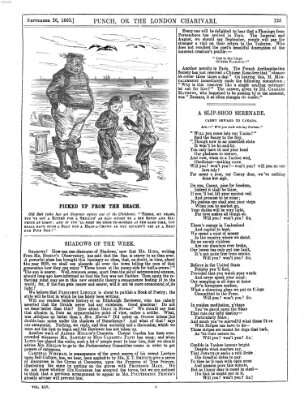 Punch Samstag 26. September 1863