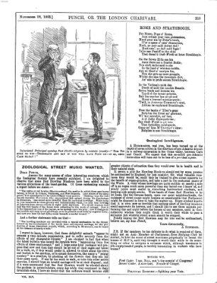 Punch Samstag 28. November 1863