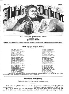 Illustrirter Dorfbarbier Sonntag 16. November 1856