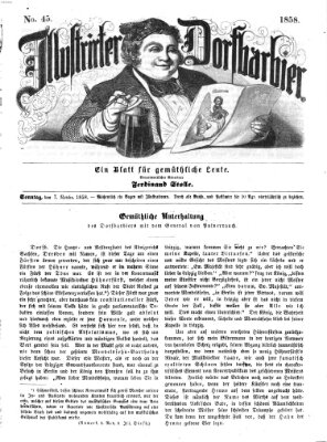 Illustrirter Dorfbarbier Sonntag 7. November 1858