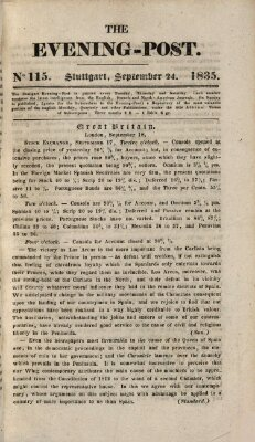 The evening-post Donnerstag 24. September 1835