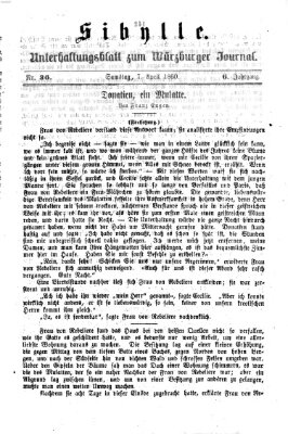 Sibylle (Würzburger Journal) Samstag 7. April 1860