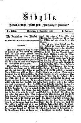 Sibylle (Würzburger Journal) Dienstag 5. November 1861