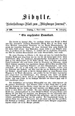 Sibylle (Würzburger Journal) Dienstag 1. April 1862