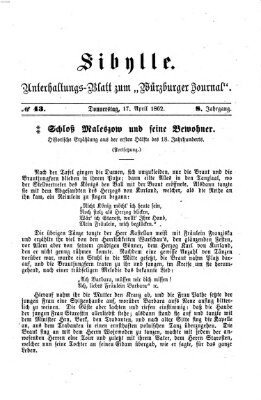 Sibylle (Würzburger Journal) Donnerstag 17. April 1862