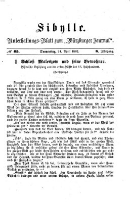 Sibylle (Würzburger Journal) Donnerstag 24. April 1862