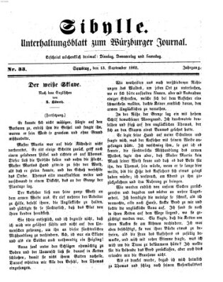 Sibylle (Würzburger Journal) Samstag 13. September 1862