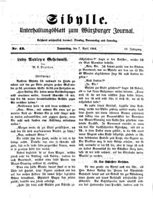 Sibylle (Würzburger Journal) Donnerstag 7. April 1864