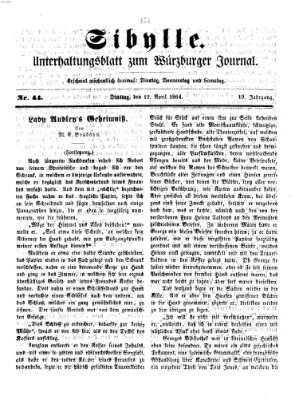 Sibylle (Würzburger Journal) Dienstag 12. April 1864