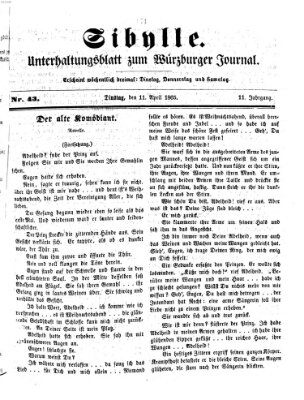 Sibylle (Würzburger Journal) Dienstag 11. April 1865
