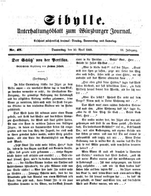 Sibylle (Würzburger Journal) Donnerstag 20. April 1865