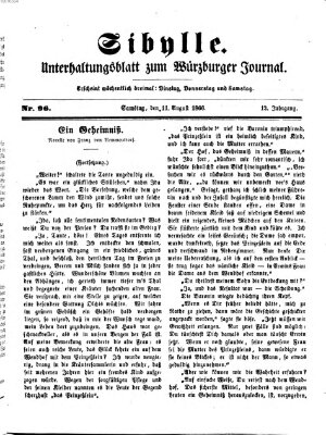 Sibylle (Würzburger Journal) Samstag 11. August 1866