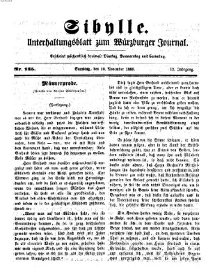 Sibylle (Würzburger Journal) Samstag 10. November 1866