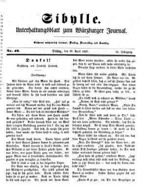 Sibylle (Würzburger Journal) Dienstag 16. April 1867