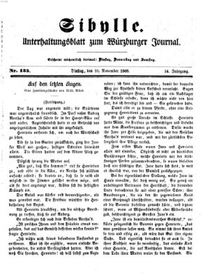 Sibylle (Würzburger Journal) Dienstag 10. November 1868