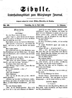 Sibylle (Würzburger Journal) Donnerstag 22. April 1869