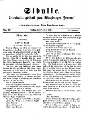 Sibylle (Würzburger Journal) Dienstag 27. April 1869