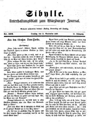 Sibylle (Würzburger Journal) Samstag 11. September 1869