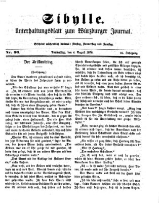 Sibylle (Würzburger Journal) Donnerstag 4. August 1870