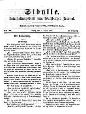 Sibylle (Würzburger Journal) Dienstag 16. August 1870