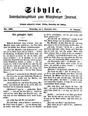 Sibylle (Würzburger Journal) Donnerstag 8. September 1870