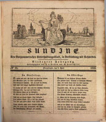 Sundine Freitag 5. April 1833