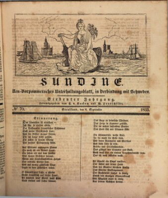 Sundine Freitag 6. September 1833