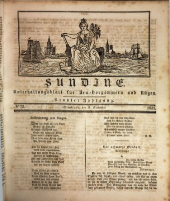 Sundine Freitag 11. September 1835