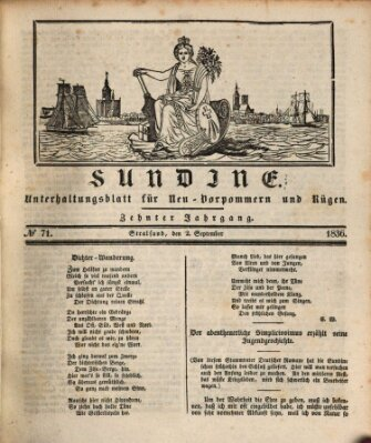 Sundine Freitag 2. September 1836