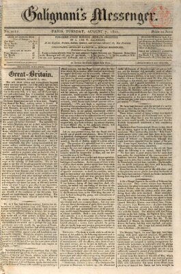 Galignani's messenger Dienstag 7. August 1821