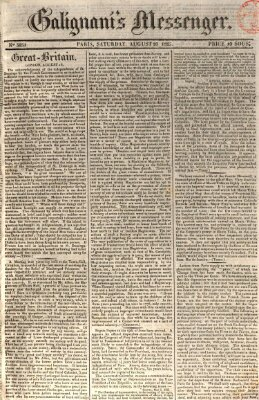 Galignani's messenger Samstag 20. August 1825