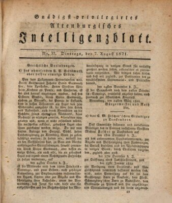 Gnädigst privilegiertes Altenburgisches Intelligenzblatt