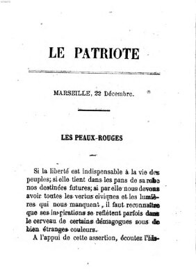 Le patriote Donnerstag 22. Dezember 1870