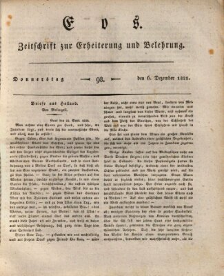 Eos Donnerstag 6. Dezember 1821