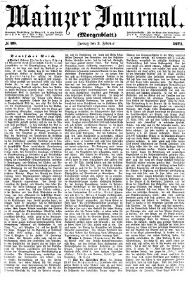 Mainzer Journal Freitag 3. Februar 1871