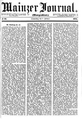 Mainzer Journal Donnerstag 9. Februar 1871