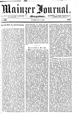 Mainzer Journal Samstag 3. Juni 1871