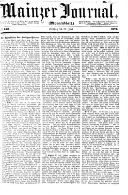Mainzer Journal Dienstag 20. Juni 1871