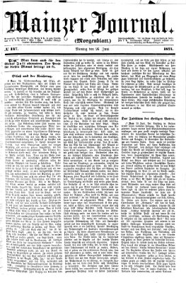 Mainzer Journal Montag 26. Juni 1871