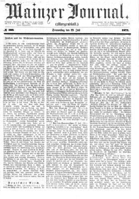 Mainzer Journal Donnerstag 20. Juli 1871