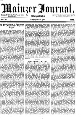 Mainzer Journal Samstag 29. Juli 1871