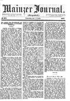 Mainzer Journal Donnerstag 5. Oktober 1871