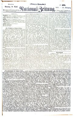 Nationalzeitung Sonntag 16. April 1871
