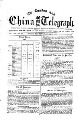 The London and China telegraph Mittwoch 28. Juni 1871