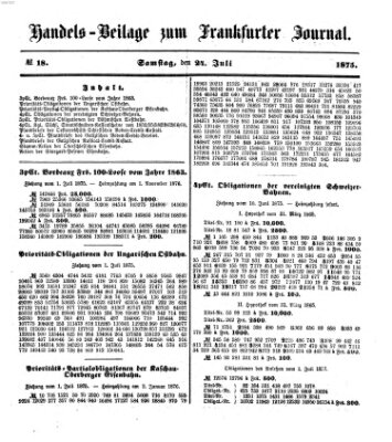 Frankfurter Journal Samstag 24. Juli 1875
