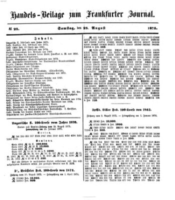 Frankfurter Journal Samstag 28. August 1875
