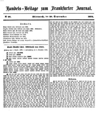 Frankfurter Journal Mittwoch 29. September 1875
