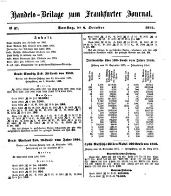 Frankfurter Journal Samstag 9. Oktober 1875