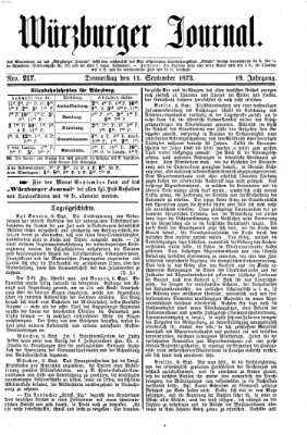 Würzburger Journal Donnerstag 11. September 1873